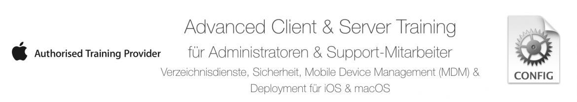 Apple iOS Deployment Workshop